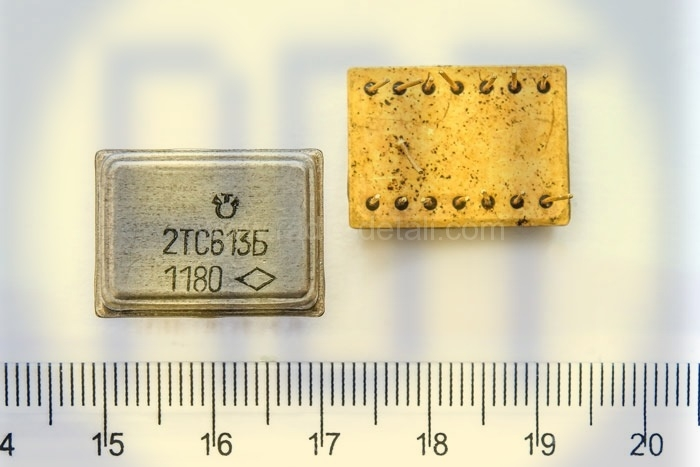 38. Транзисторная сборка (КТС, 2ТС613 желтые)