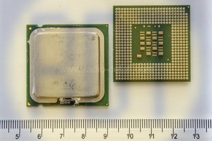 47. Процессор на зеленом текстолите с радиатором (маленький)