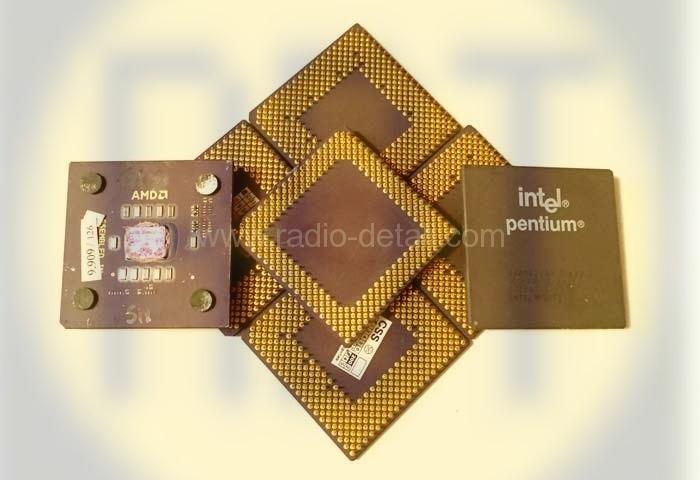 86. Процессоры керамические с желтыми ногами