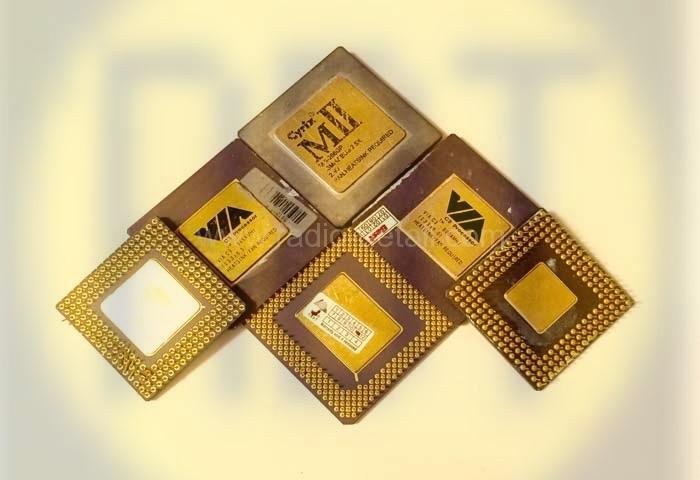 87. Процессоры керамические с желтыми радиаторами