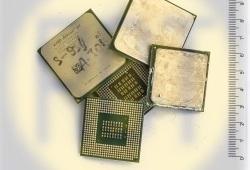 61. Процессор на зеленом текстолите с радиатором (маленький)