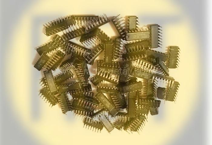 18. Микросхема пластмассовая черная (без позолоты)